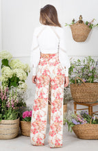 Load image into Gallery viewer, Floral High Waisted Wide Leg Trousers