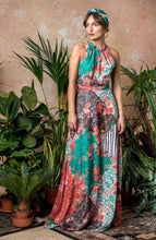 Load image into Gallery viewer, Open Back Maxi Dress With Braided Straps