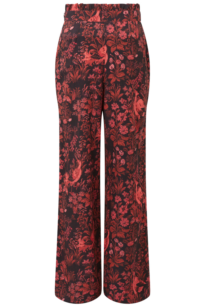 High Waist Trouser With Top Frill
