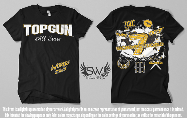 Top Gun 2015 Worlds T-shirts