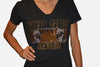 Top Gun W/ Jaguar Face Fitted V Neck T-Shirt - TGProShop