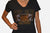 Top Gun W/ Jaguar Face Fitted V Neck T-Shirt