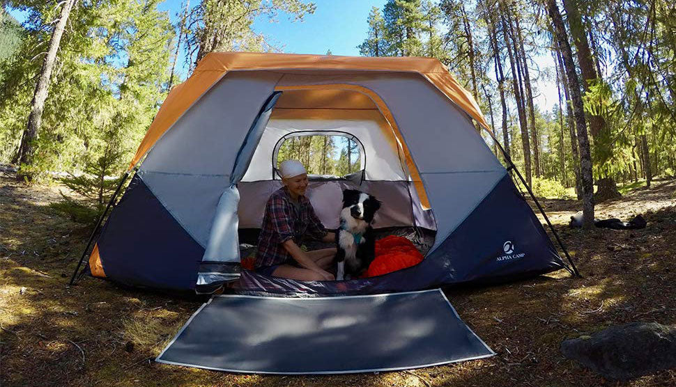 ALPHA CAMP 8 Person Instant Family Camping Tent