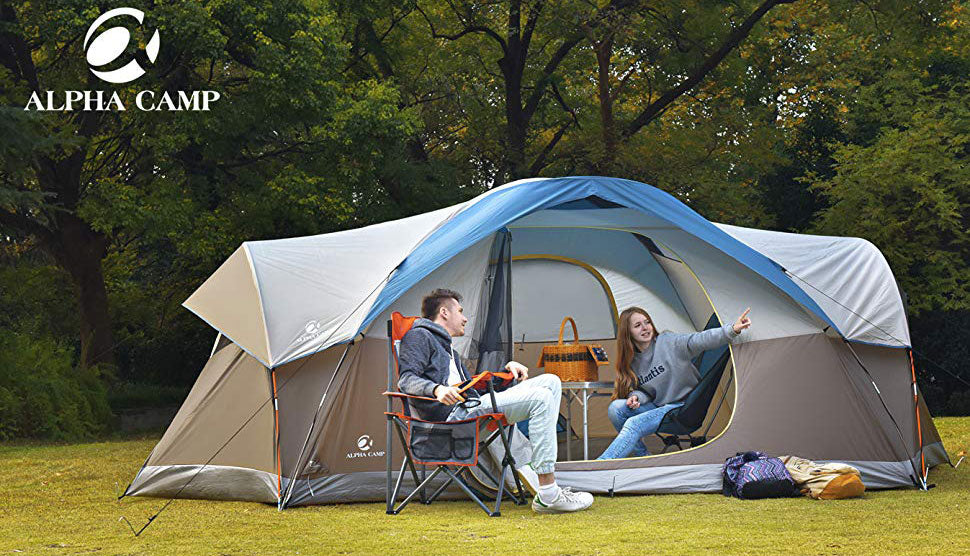 ALPHA CAMP 8 Person Dome Family Camping Tent 17' x 10'