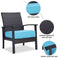 PHI VILLA Rattan Sofa Seating Group with Cushions, Patio Conversation Set