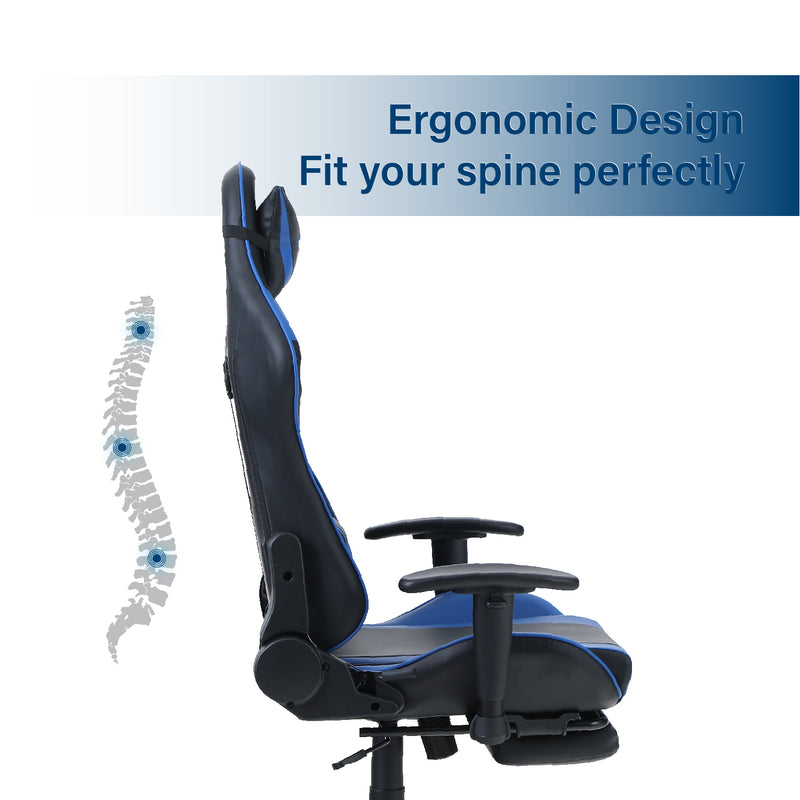 ALPHA HOME Ergonomic Gaming Chair Racing Style with Massage Lumbar Support