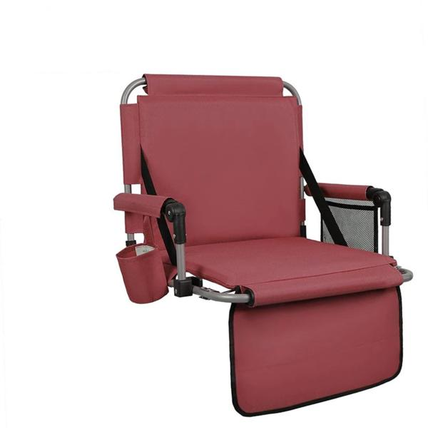 Alphamarts coupon: Alpha Camp Folding Stadium Seat Chair for Bleachers with Back & Arm Rest Red
