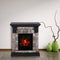 PHI VILLA Faux Stone Freestanding Electric Fireplace, 1250W