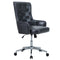 PHI VILLA PU Leather Adjustable Swivel Home Office Rocking Chair