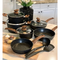Kitchen Academy Black 12 Piece Nonstick Cookware Set