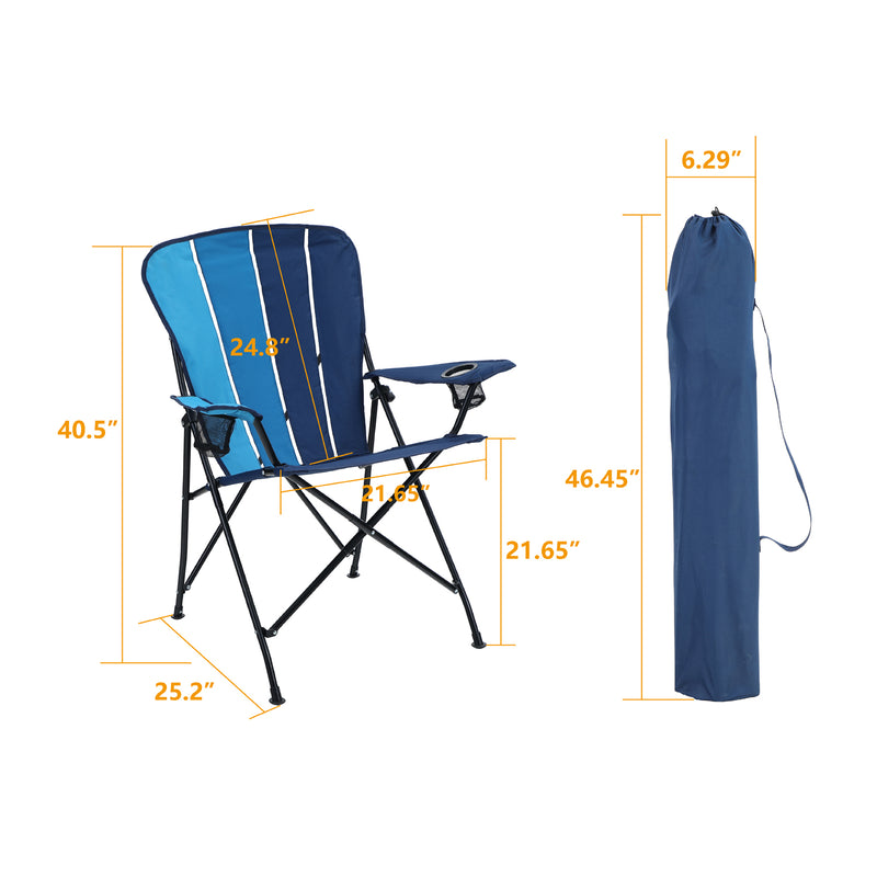 Alpha Camp Contrast Portable Lightweighted Camping Chairs