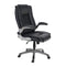 PHI VILLA Ergonomic PU Leather Modern 360° Swivel Executive Office Chair with Massage Lumbar Support