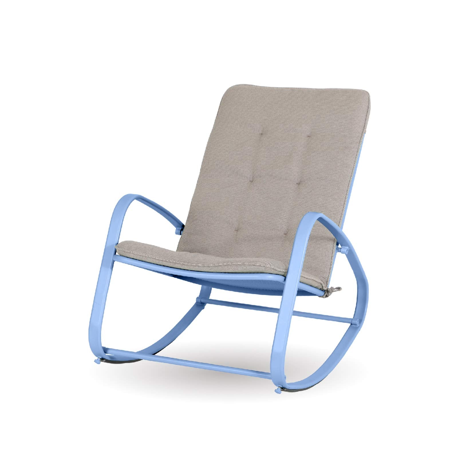 Alphamarts coupon: Sophia & William Outdoor Patio Rocking Chair Padded Steel Rocker Chairs Support 300lbs Blue