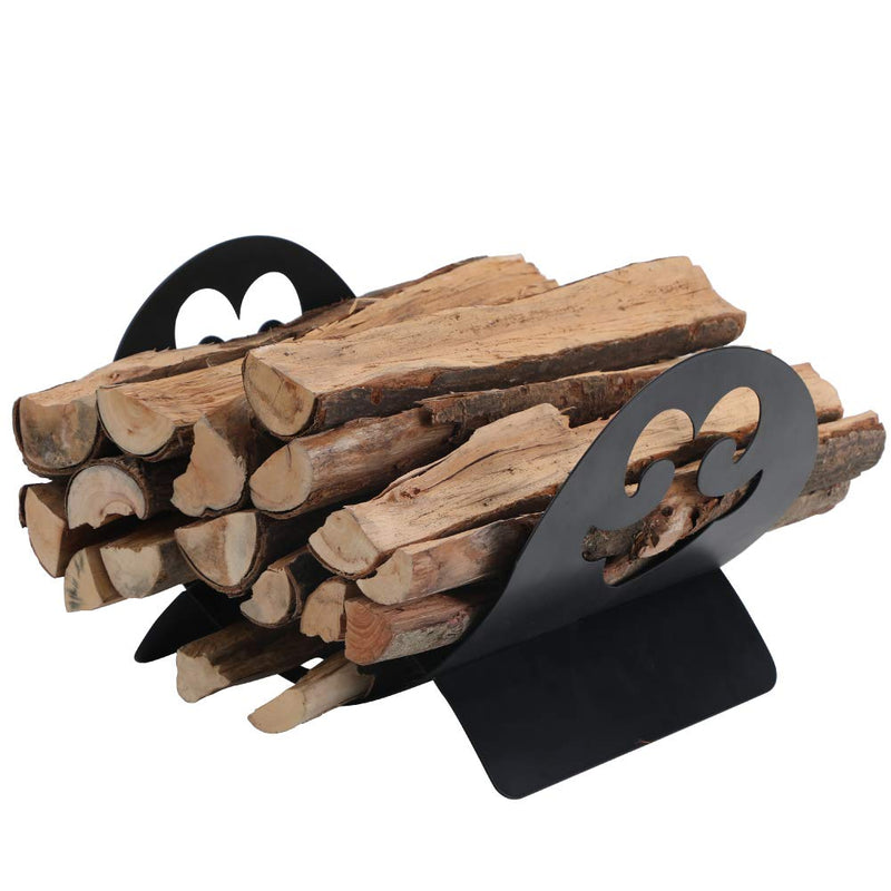 PHI VILLA Fireplace Log Holder Firewood Rack Storage Rack for Firewood