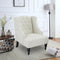 PHI VILLA Accent Living Room Wingback Chair with Solid Wooden Legs