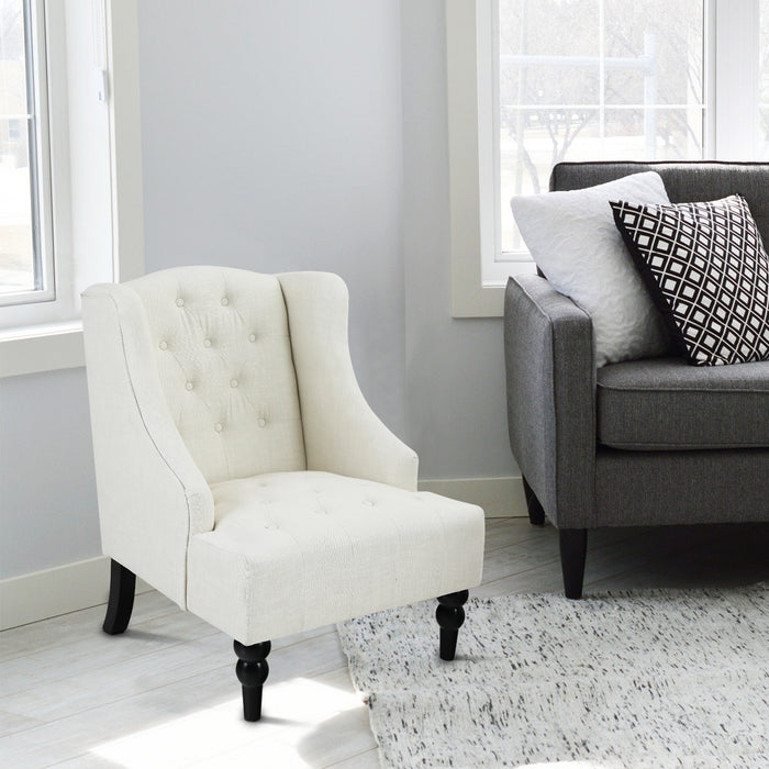 Accent Wingback Textile Chair with