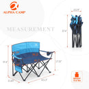 ALPHA CAMP Oversized Portable Camping Chair with Cup Holder Heavy Duty Support 300 LBS/ 450 LBS