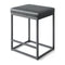 PHI VILLA Square PU Leather Bar Stool with Sturdy Metal Frame