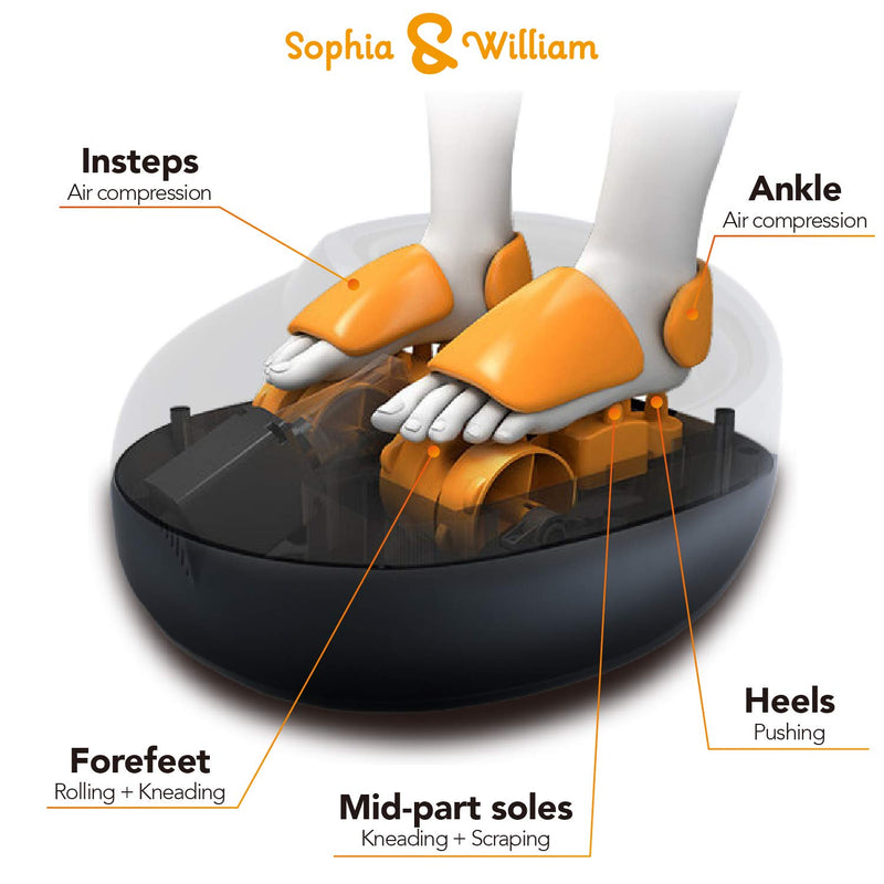 Sophia & William Shiatsu Foot Massager Electric Feet Massage Machine with Remote Control