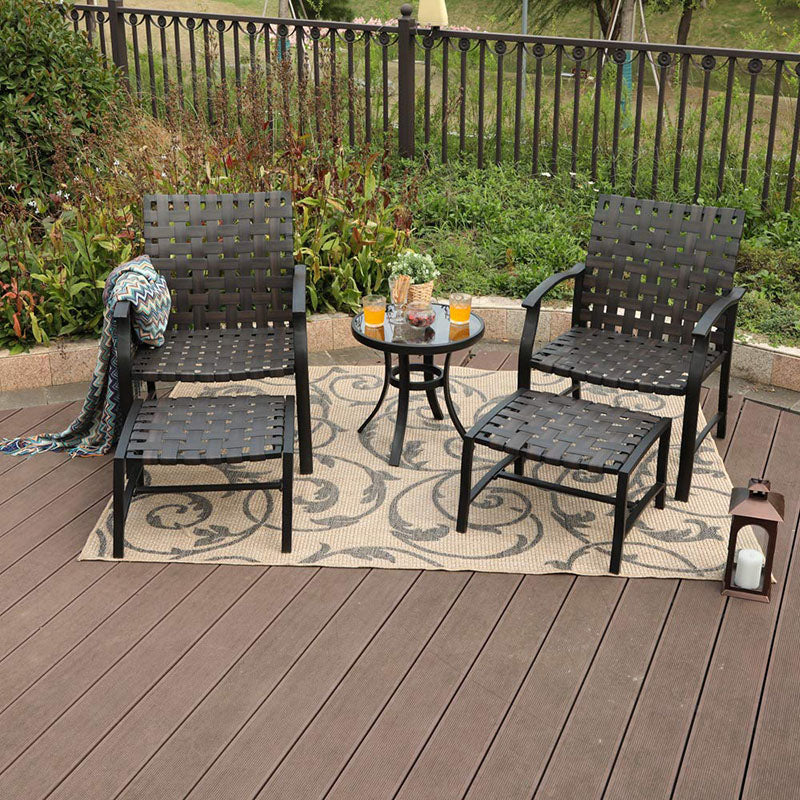 Phi Villa Patio Strap Conversation Set