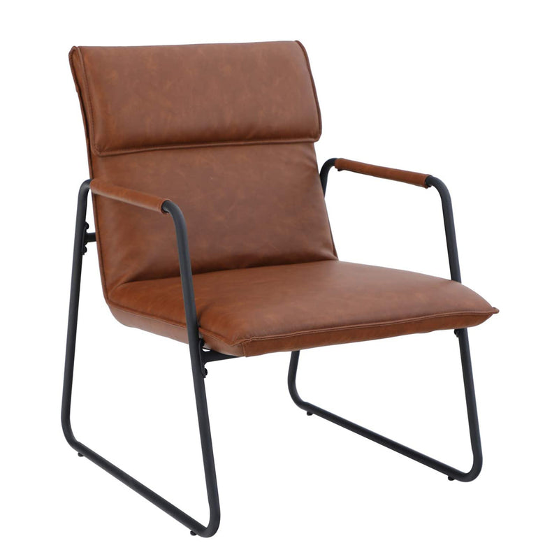 PHI VILLA Accent Living Room Lounge Sofa Chair with Metal Legs