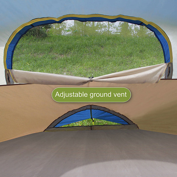 ALPHA CAMP Blue 6 Person Dome Family Camping Tent