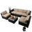 PHI VILLA 6-Piece Wicker Outdoor Sectional B