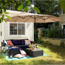 PHI VILLA 13ft Double-Sided Outdoor Patio Umbrella