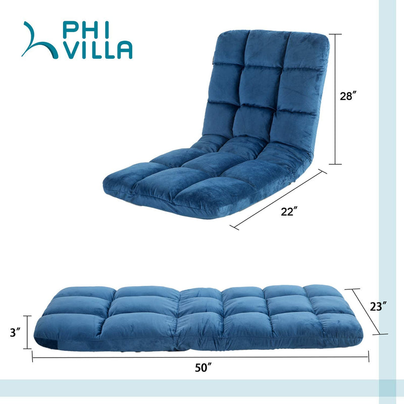 PHI VILLA Adjustable Lazy Floor Sofa Chair Recliner