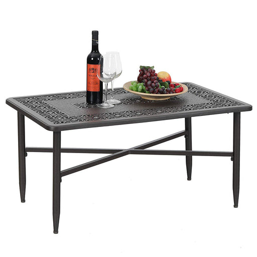 "PHI VILLA 38.6""x23"" Outdoor Patio Retro Tea Table"