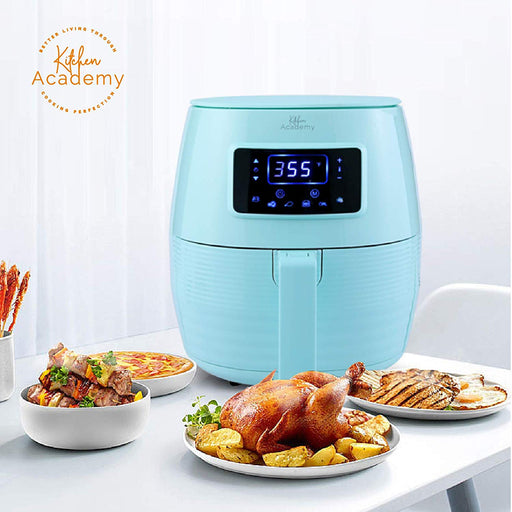 Kitchen Academy Air Fryer (50 Recipes) 5.8 Qt Electric Hot Air Fryers XL Oven Oilless Cooker, 7 Cooking Preset, LED Digital Touchscreen,Nonstick Basket