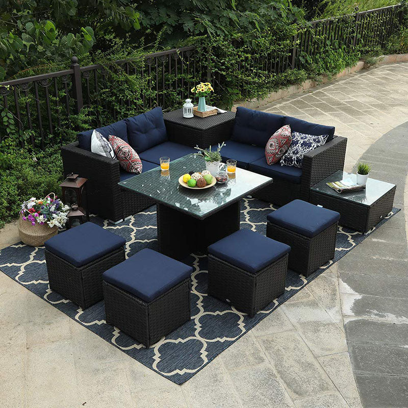 Phi Villa Outdoor Sectional Dining Set Cushion Box Storage