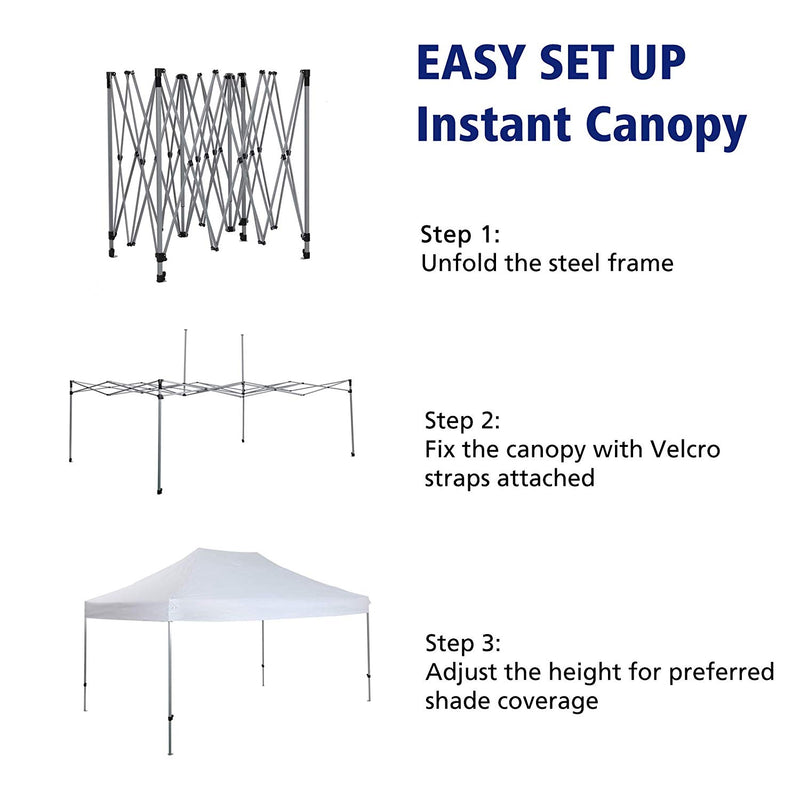 PHI VILLA 10' x 15' Straight Leg Pop-up Canopy
