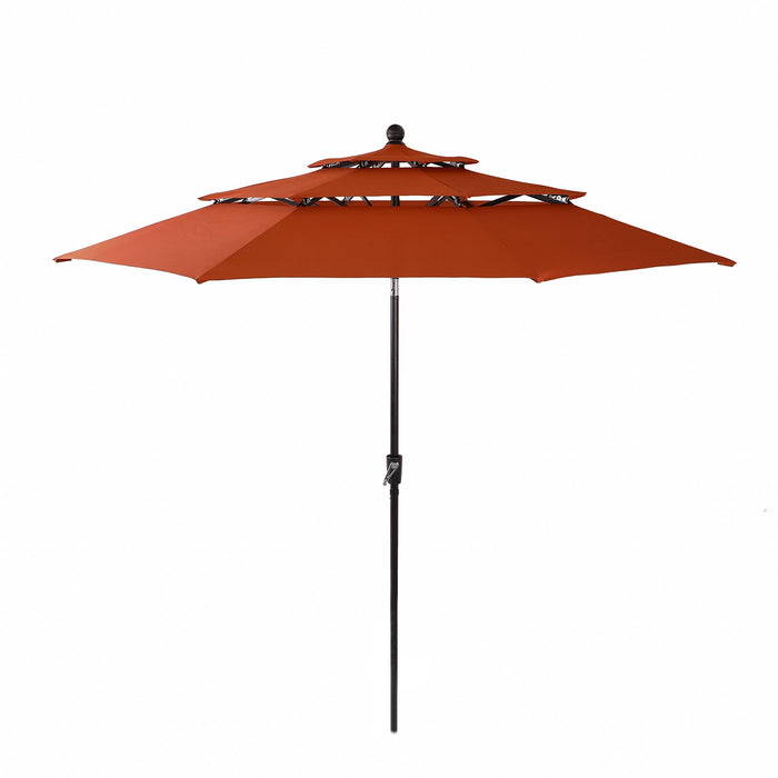 Orange PHI VILLA 10ft 3 Tier Auto-tilt Patio Umbrella