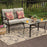 2 PC PHI VILLA Patio Cushioned Outdoor Conversation Sofa Set