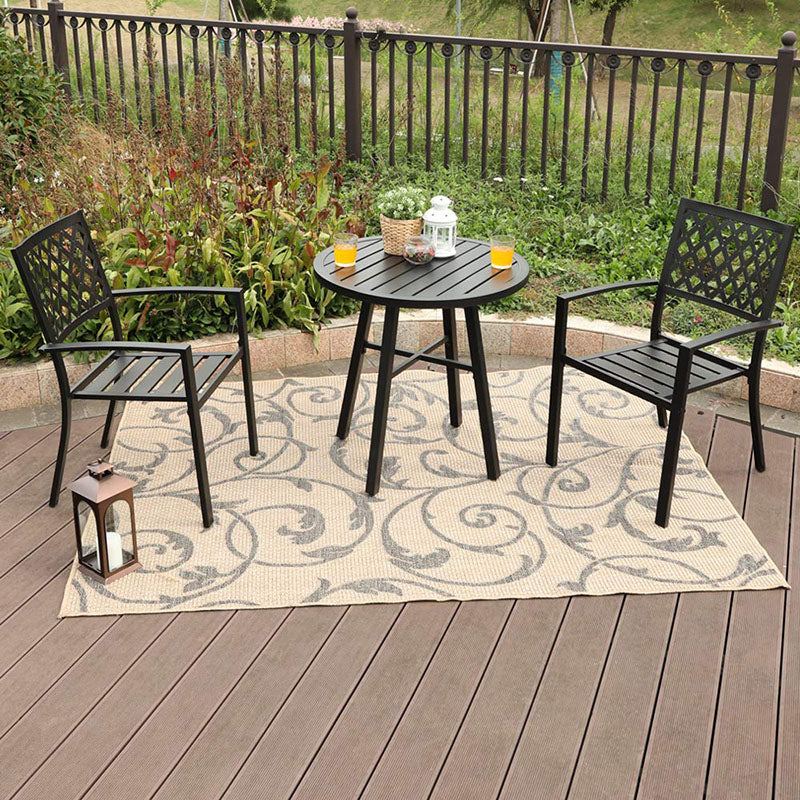 Phi Villa Outdoor Metal Bistro Set Set