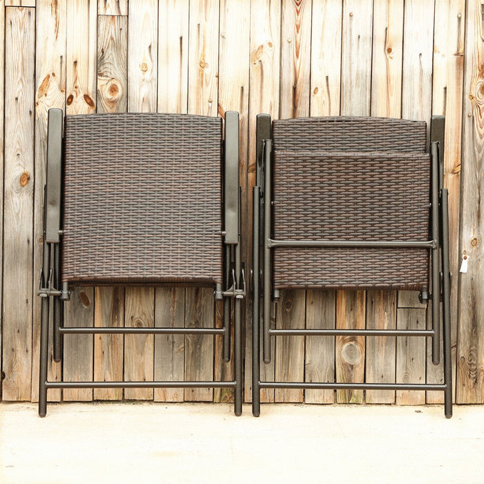PHI VILLA Patio Rattan Folding Furniture