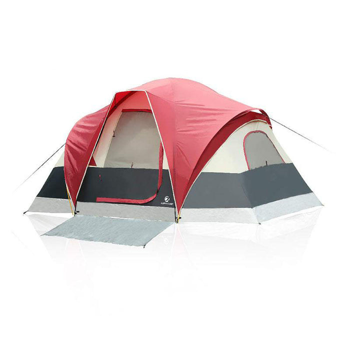 ALPHA CAMP 6 Person Camping Tent Extended Dome Design