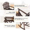 Phi Villa Outdoor Acacia Wood Rocking Chair Rustic, Wooden Texas Rocking Chair