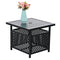 PHI VILLA Outdoor Bistro Table with Umbrella Hole