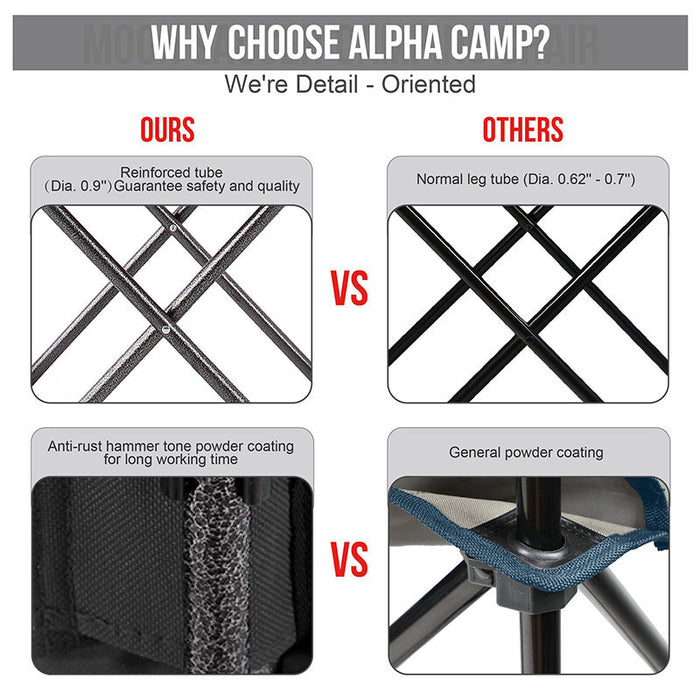 Alpha Camp Black Padded Plush Moon Chair