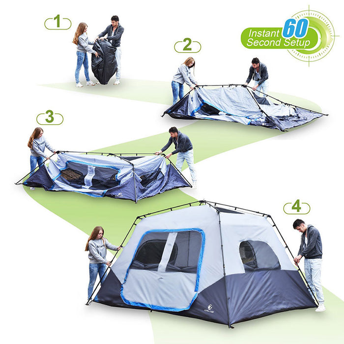 ALPHA CAMP Blue 8 Person Instant Family C&ing Tent  sc 1 st  AlphaMarts & ALPHA CAMP 8 Person Instant Family Camping Tent u2014 AlphaMarts