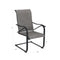 PHI VILLA Adjustable Table & C-Spring Textilene Patio Chairs Steel Outdoor Dining Set
