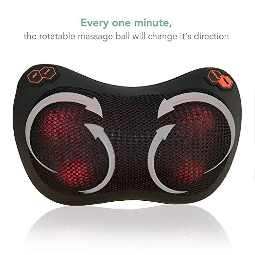 Sophia & William Massage Pillow Back Neck Shiatsu Massager
