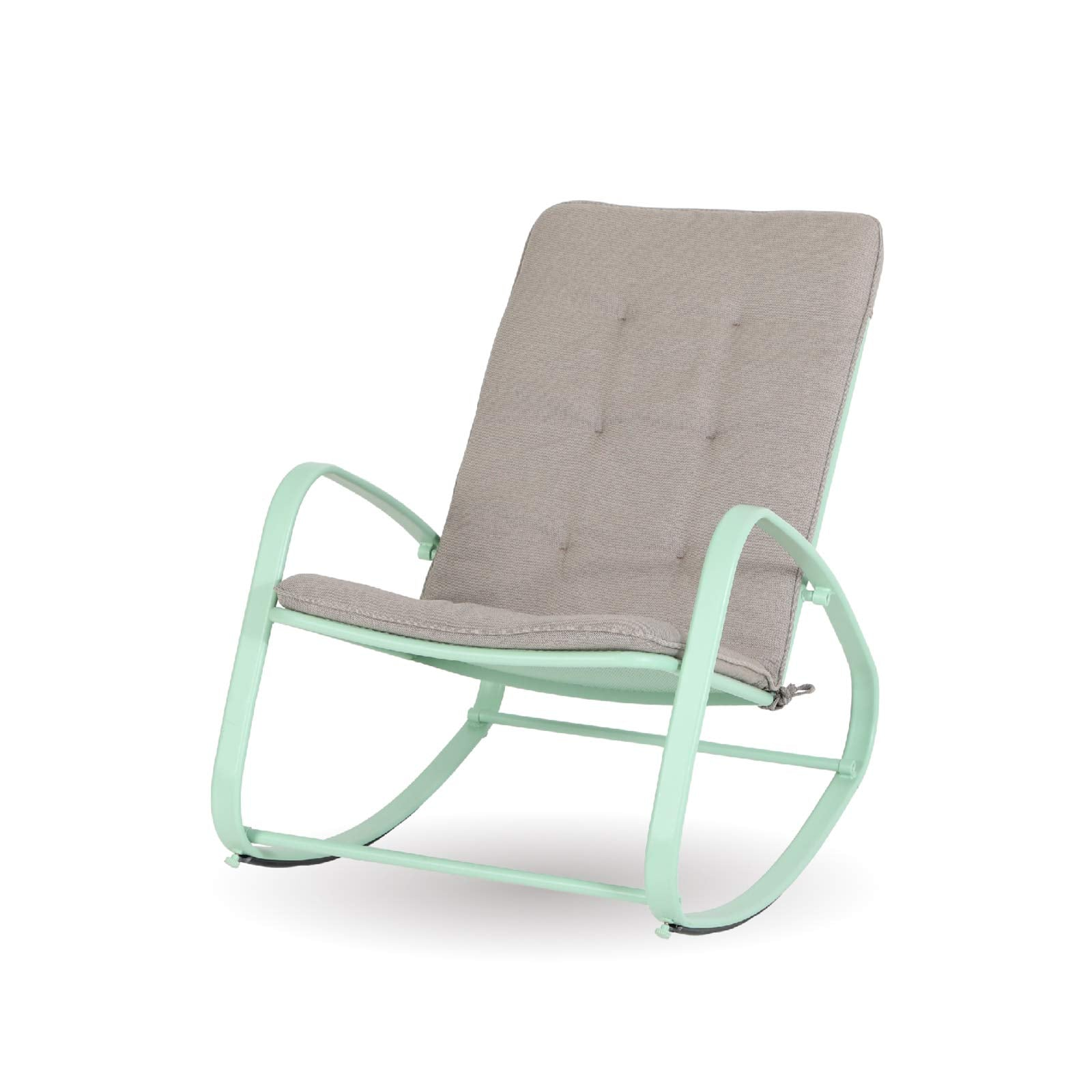 Alphamarts coupon: Sophia & William Outdoor Patio Rocking Chair Padded Steel Rocker Chairs Support 300lbs Green