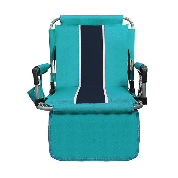 Alpha Camp Green Stadium Chair with Back and Arm Rest