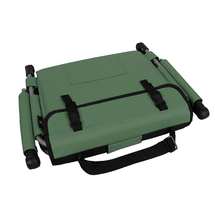 Alpha Camp Green Padded Stadium Seat Chair for Bleachers with Back& Arm Rest
