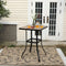 PHI VILLA All-Weather Swivel Bar Stools With Arms