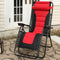 PHI VILLA Padded Zero Gravity Chair with Cup Holder