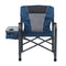 Alpha Camp Metal Foldable Director's Chair Camping Chair with Cup Holder Storage Box